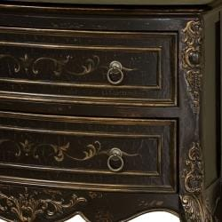 Hand-painted Rustic Brown Accent Chest