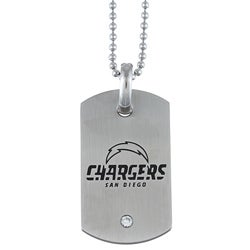 Stainless Steel San Diego Chargers Dog Tag