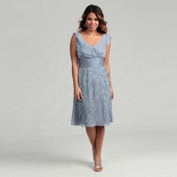 Adrianna Papell Women's Evenings Tiered Petal Dress