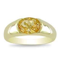 Miadora Goldplated Sterling Silver Citrine Fashion Ring