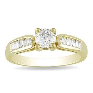 Miadora 14k Yellow Gold 3/4ct TDW Diamond Engagement Ring (G-H, I2-I3)