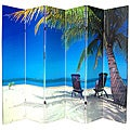 Canvas 6-foot Double-sided Ocean Room Divider (China)
