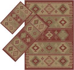 Appealing Red Southwestern Rugs (1'8 x 2' 6) (1'10 x 5'4) (4'11 x 7')
