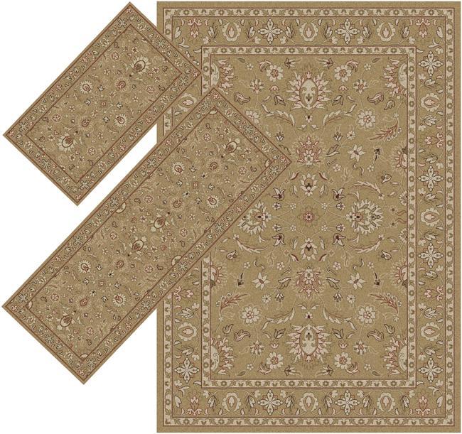 Appealing Beige Border Rugs (1'8 x 2'6) (1'10 x 5'4) (4'11 x 7')