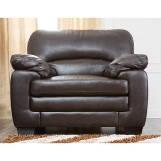 Abbyson Living Charleston Premium Top-grain Leather Armchair