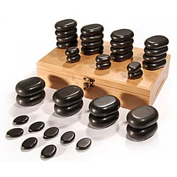 Basalt Lava 36-piece High Polish Hot Stone Massage Kit