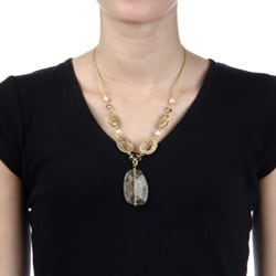 Alexa Starr Goldtone Rutilated Quartz Necklace