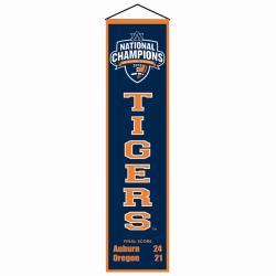 Auburn Tigers 2010 National Championship Wool Heritage Banner