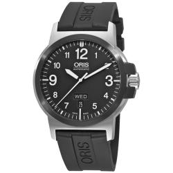 Oris Men's 'BC3 Advanced Day Date' Rubber Strap Automatic Watch