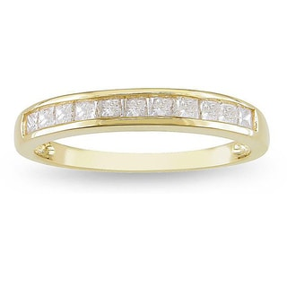 Miadora 14k Yellow Gold 1/2ct TDW Channel Diamond Wedding Band (G-H, I2-I3)