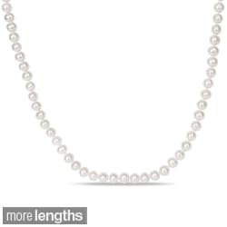Miadora White 6.5-7mm Freshwater Pearl Endless Necklace (36-72 inch)