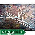 Hand-carved Stone Tile 'The Rower' Art for the Athlete Abstract Wallhanging