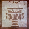 Hand-carved Garden Art Stone Tile Classical Urn Wallhanging