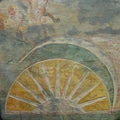 Sun Art Symbolic/ Inspirational 'The Rising Sun' Hanging Karmic Stone Hand-carved Stone Tile