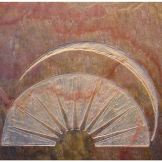 Custom Kitchen Tile - 'The Rising Sun' Artisan Stone