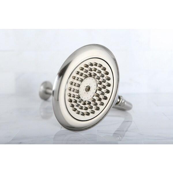 Satin Nickel Vintage Bell 6-in Shower Head with Shower Arm
