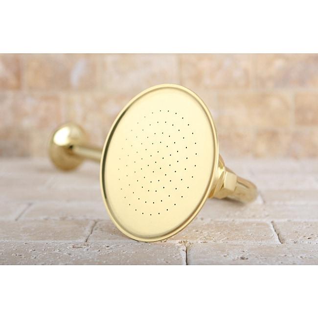 Polished Brass Victorian 4.5-inch Shower Head w/ Shower Arm
