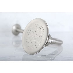 Satin Nickel Victorian 4.5-inch Shower Head w/ Shower Arm