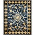 Asian Hand-knotted Majesty Royal Blue Wool Rug (8' x 10')