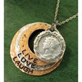 American Coin Treasures Silver Mercury Dime Circle Live/ Love/ Laugh Pendant