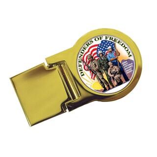 American Coin Treasures Goldtone Defenders of Freedom New York Statehood Quarter Moneyclip