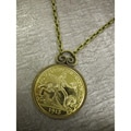 American Coin Treasures 1915 Panama-pacific Commemorative Quarter Necklace