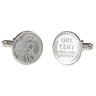 American Coin Treasures Lincoln 1943 Steel Penny Cuff Links