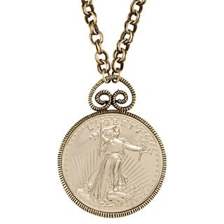 American Coin Treasures Double Eagle 1933 Gold Piece Replica Pendant
