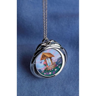 American Coin Treasures Colorized Wishing Well JFK Half Dollar Spinner Pendant