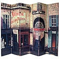 Canvas 6-foot Double-sided French Cafe Room Divider (China)