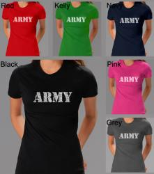 Los Angeles Pop Art Women's Army T-shirt