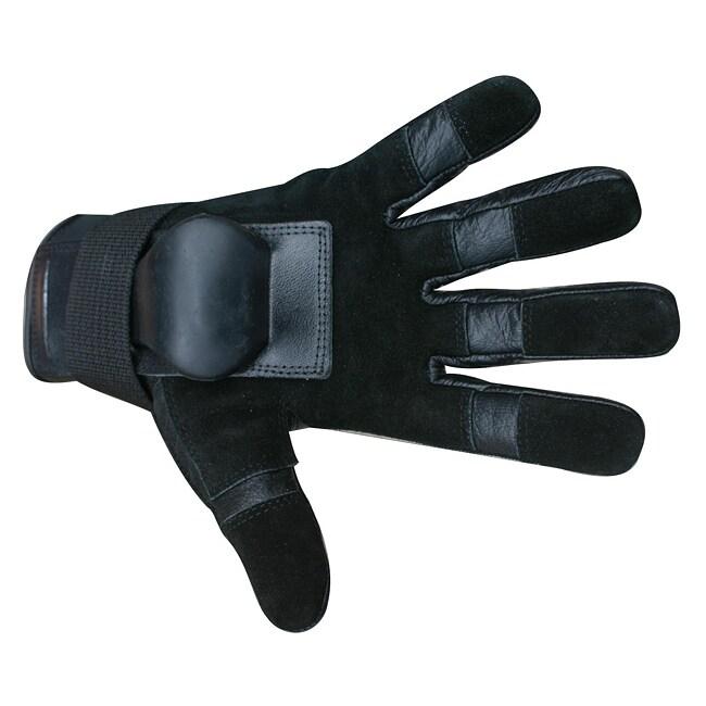 MBS Medium Full-finger Black Hillbilly Wrist Guard Gloves