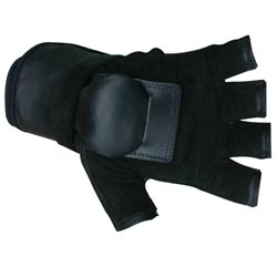 MBS Medium Half-finger Black Hillbilly Wrist Guard Gloves