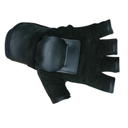 MBS Large Half-finger Black Hillbilly Wrist Guard Gloves