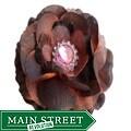 Brown Boutique Flower Clip