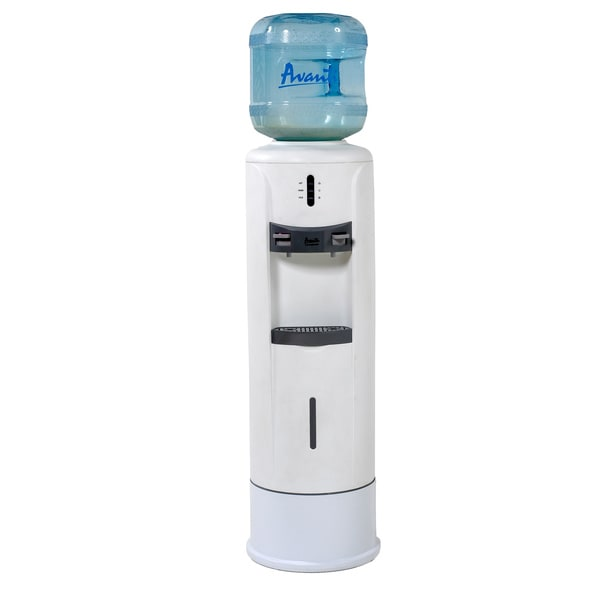 Avanti Hot and Cold White Water Dispenser with Pedestal
