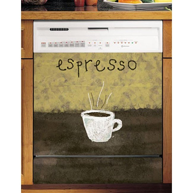 Appliance Art's Espresso Art 2 Dishwasher Cover