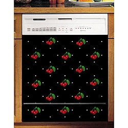 Appliance Art's Cherries & Polka Dots Dishwasher Cover