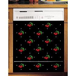 Appliance Art's Cherries & Polka Dots Dishwasher Cover