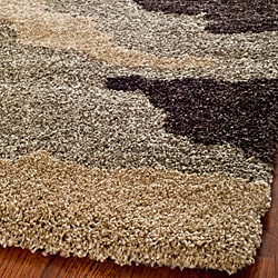 Hand-woven Ultimate Beige/ Brown Shag Rug (4' x 6')