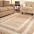 Hand-woven Ultimate Beige Shag Rug (5'3 x 7'6)