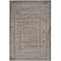 Hand-woven Ultimate Dark Grey Shag Rug (5'3 x 7'6)