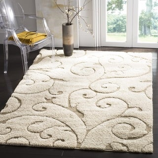 Safavieh Florida Ultimate Shag Cream/ Beige Rug (4' x 6')