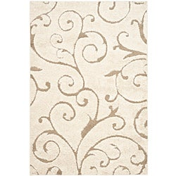 Ultimate Cream/Beige Shag Area Rug (5'3