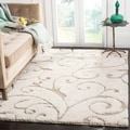 Safavieh Florida Ultimate Shag Cream/ Beige Rug (8' x 10')