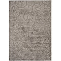 Safavieh Ultimate Dark Grey/ Beige Shag Rug (4' x 6')