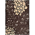 Ultimate Dark Brown/ Grey Shag Rug (5'3 x 7'6)