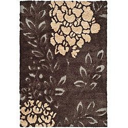 Ultimate Dark Brown/ Grey Shag Rug (8' x 10')