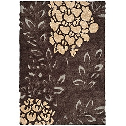 Safavieh Ultimate Dark Brown/ Grey Shag Rug (8' x 10')
