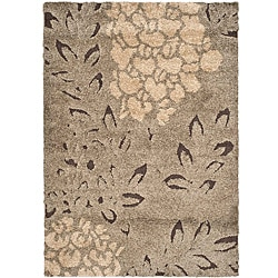 Ultimate Smoke/ Dark Brown Shag Rug (5'3 x 7'6)
